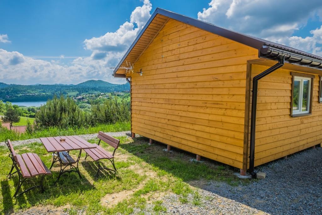 Bieszczady Domek 4-osobowy drewniany